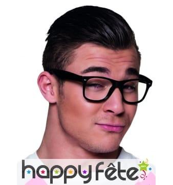 4 paires de lunettes noires type intello