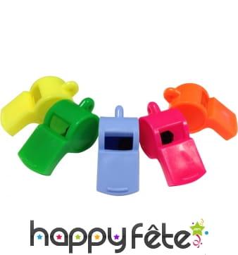 4 sifflets fantaisies et colorés