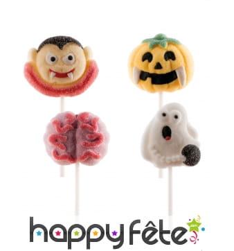 4 Sucettes marshmallow thème Halloween