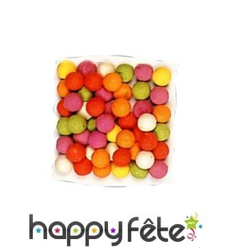 50 boules à sarbacane multicolores