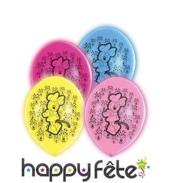 5 Ballons de Minnie Mouse lumineux, 28 cm