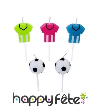 5 Bougies d'anniversaire sur le thème du foot