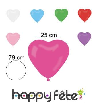 50 ballons en forme de coeur