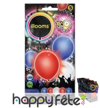 5 ballons led lumineux et colorés