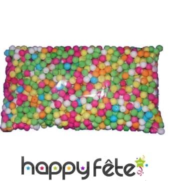 500 boules multicolores pour sarbacane 1,7cm