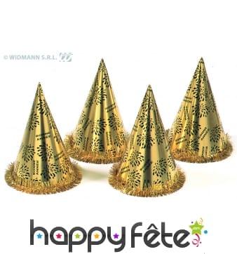 50 chapeaux coniques or bonne année