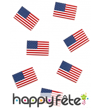 50 Confettis de table drapeau américain