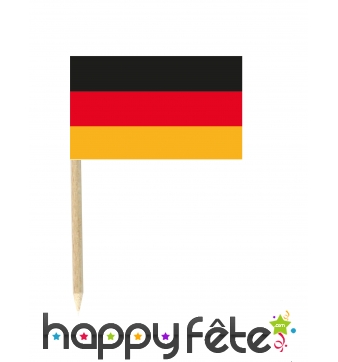 50 mini drapeaux de l'Allemagne sur pique, 3x5 cm