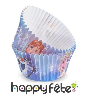 50 Moules La Reine des Neiges pour cupcake de 7 cm