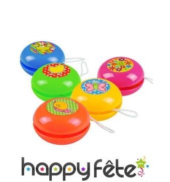 5 petits yoyos colorés de 4cm