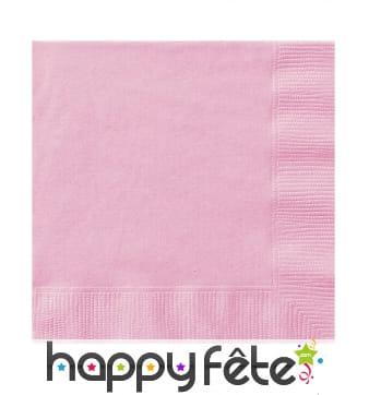 50 Serviettes Rose clair en papier