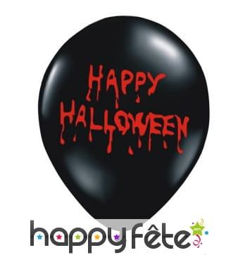6 Ballons Happy Halloween en sang
