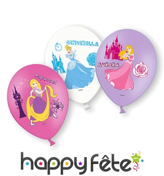 6 ballons princesses Disney