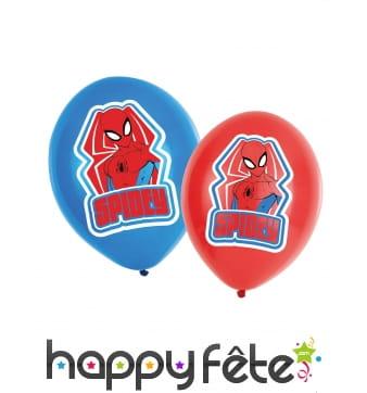 6 Ballons Spidey de 27,5cm