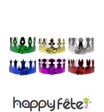 6 couronnes colorées pour enfant