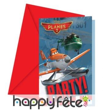 6 cartes d'invitations planes 2