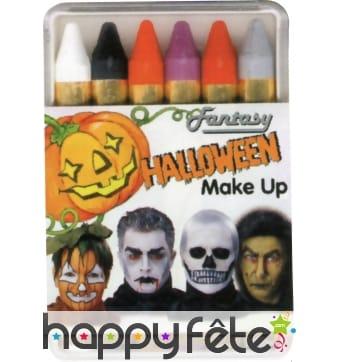 6 crayons halloween
