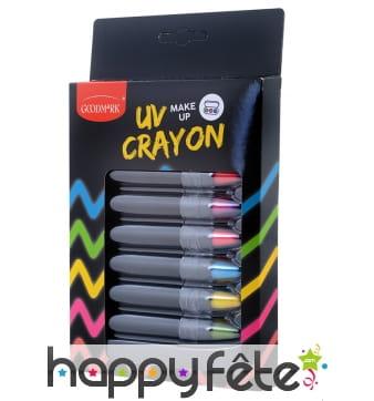 6 crayons UV cosmétiques