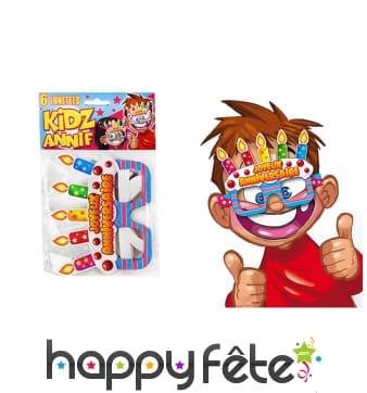 6 lunettes Joyeux anniversaire pour enfant