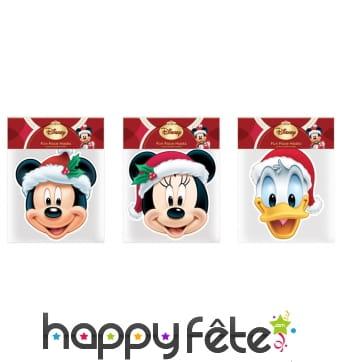 6 Masques de Noël Mickey et ses amis