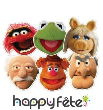 6 masques des personnages du Muppet show