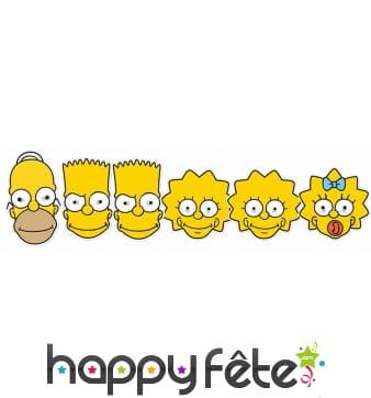 6 masques les Simpson en carton