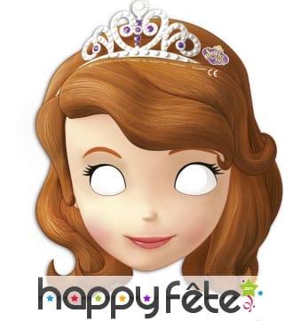 6 Masques Princesse Sofia en carton