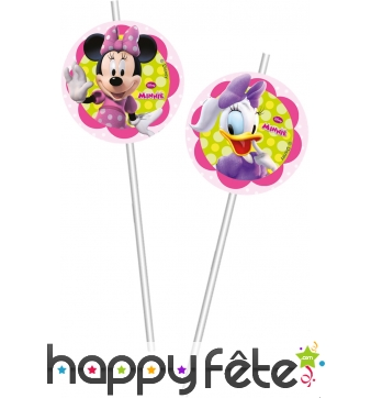 6 pailles collection Minnie Happy Helpers