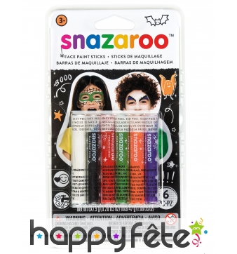 6 Sticks maquillage Halloween mixte, Snazaroo