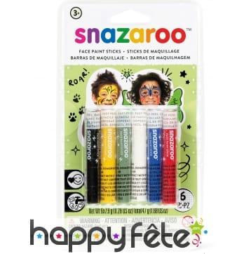 6 Sticks maquillage mixte, Snazaroo