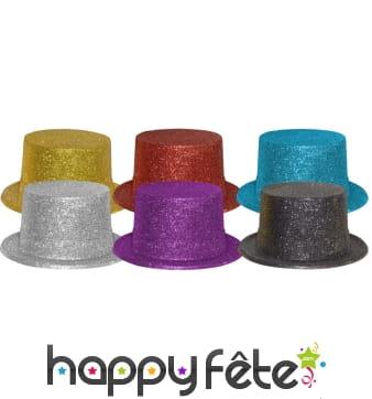 72 hauts de forme multicolores paillettes