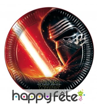 8 Assiettes star wars 7 le réveil de la force
