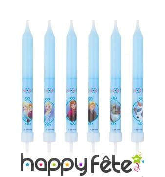 8 Bougies d'anniversaire La Reine des Neiges