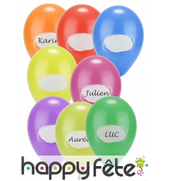 8 Ballons personnalisables