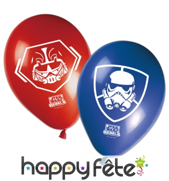 8 ballons Star Wars rebels