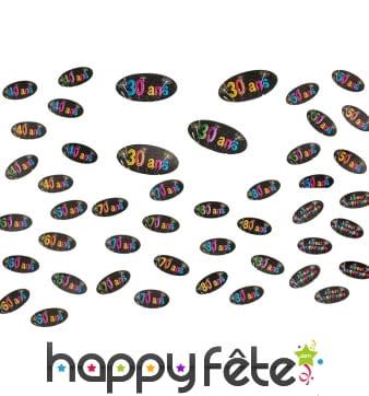 80 confettis de table Anniversaire et artifices