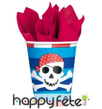 8 gobelets Sourire de Pirate