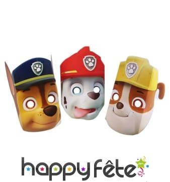 8 masques Pat Patrouille en carton