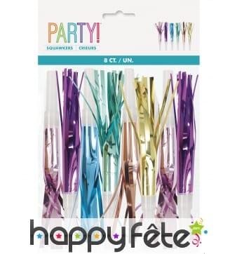 8 Sans-gênes multicolores disco party