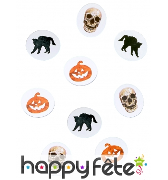 9g de confettis de table pour halloween
