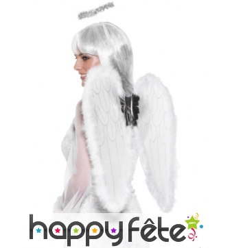 Ailes anges + auréole blanche