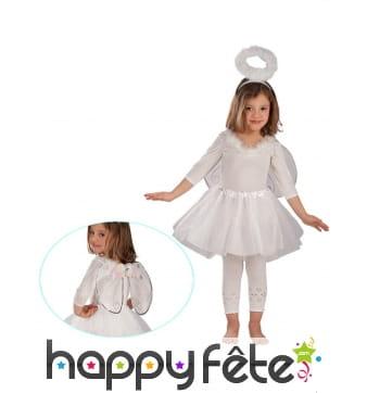 Accessoire ange blanc jupe bouffante pour fille