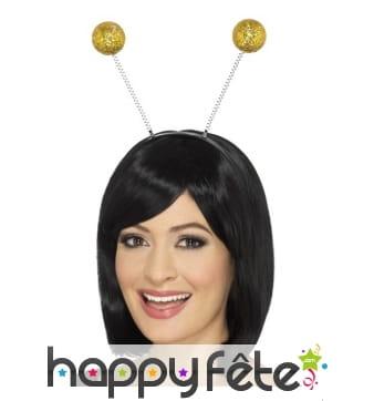 Antennes boules dorées avec paillettes