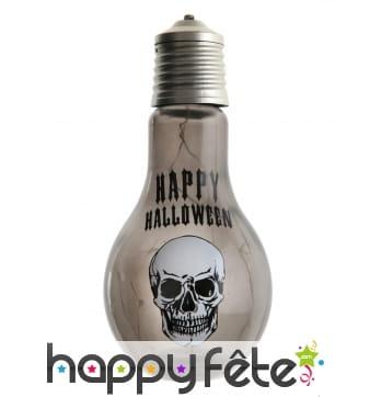 Ampoule crâne Happy Halloween de 11x21 cm