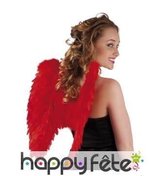 Ailes d'ange rouges en plumes