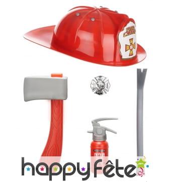 Accessoires de pompier pour enfant