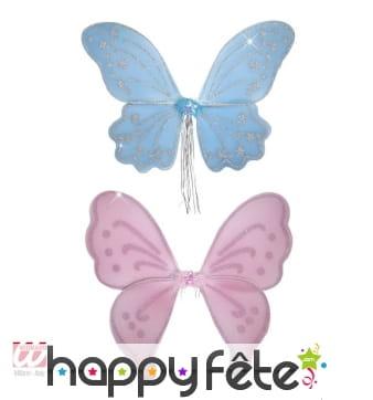 Aile de papillon à paillettes pour enfant
