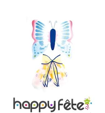 Ailes de papillon bleu pour enfant
