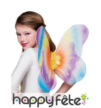 Ailes de papillon colorées pour enfant