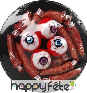 Assiette d'yeux et de doigts, Halloween